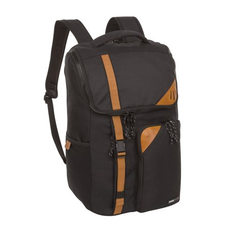SwissTech La Tzoumaz School Backpack with Protective Laptop Compartment, Black