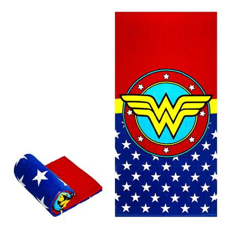 Logo Scrubber Towel - DC Comics License Wonder Woman Logo Beach Towel