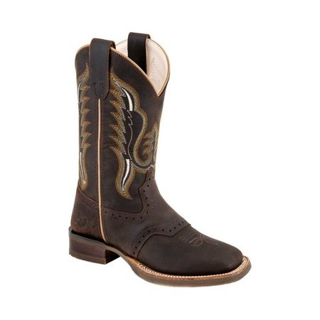 Cowboy Boots For Boys (Children's Old West 9 Inch Broad Square Toe Leather Cowboy)