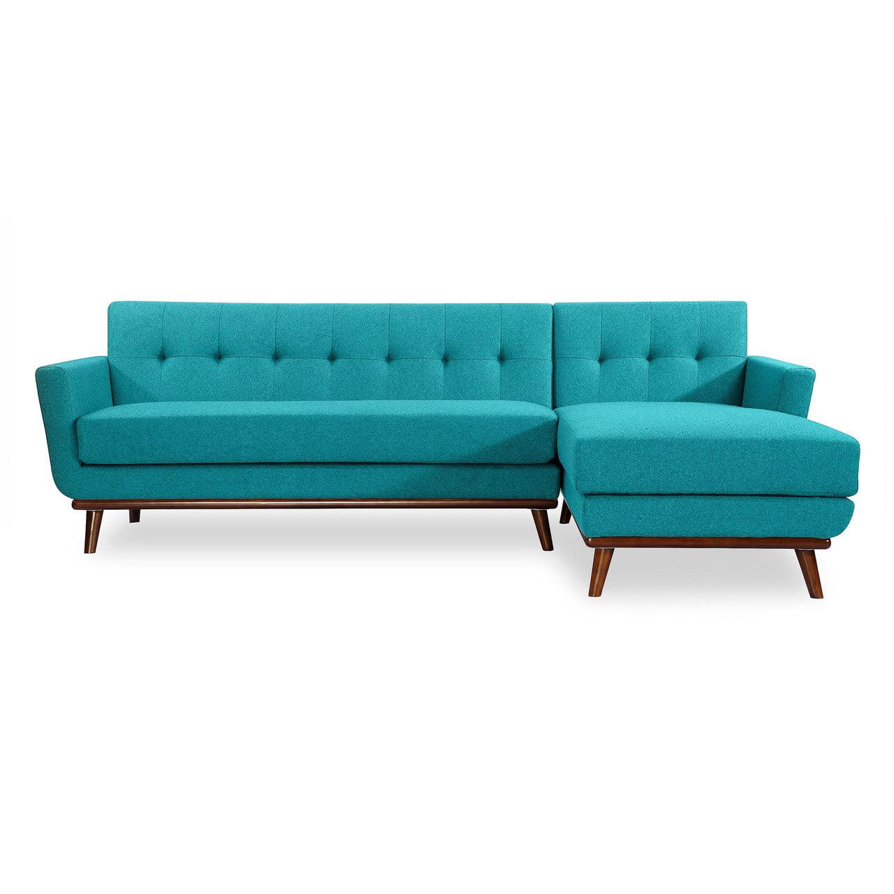 Kardiel Jackie Wool Hardwood Mid Century Modern Right Sectional Sofa