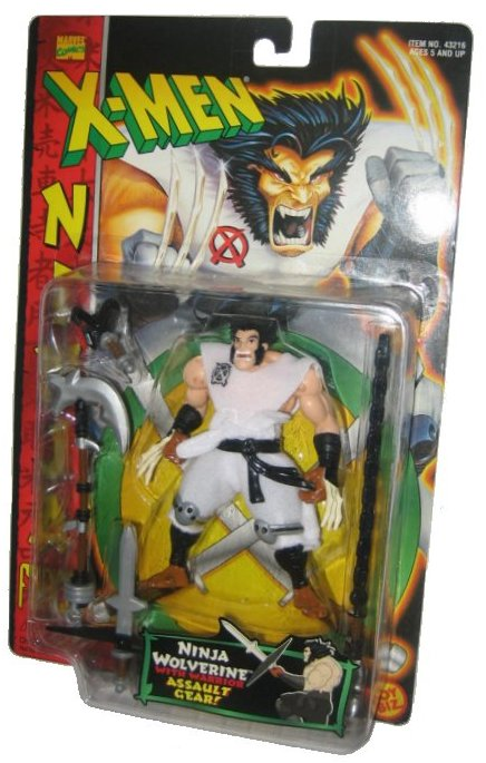 Marvel Comics X-Men Ninja Force Wolverine Action Figure w  Warrior Assault Gear by Toy Biz