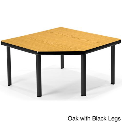 OFM Cherry Top 41-inch Corner Table Oak with black legs