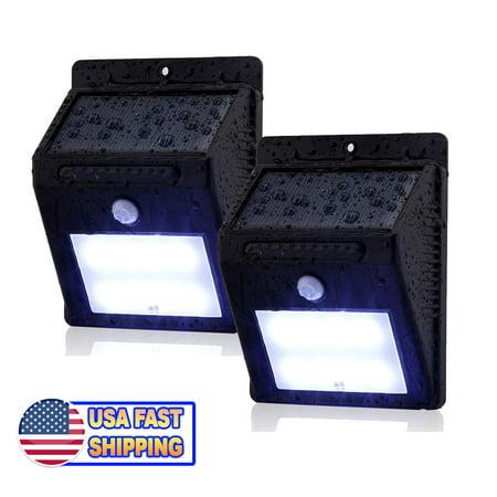 8 LED Outdoor Solar Powered Wireless Waterproof Security Motion Sensor Light 2pc