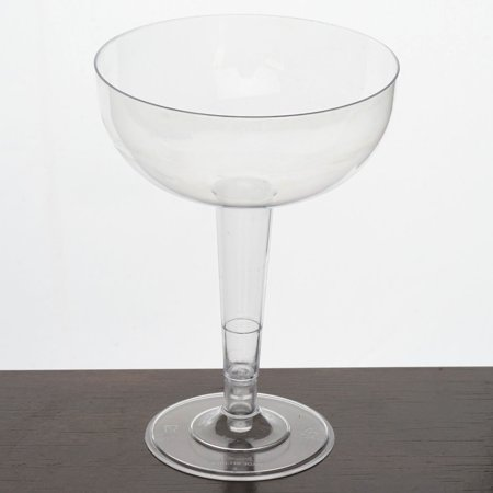 Efavormart 60 Pcs - Clear 8oz Classy Round Disposable Plastic Champagne Glass](Clear Plastic Champagne Glasses)