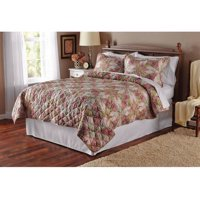 Deals on Mainstays Luxe Antique Garden King Quilt