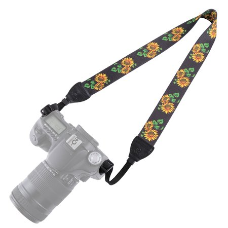 Retro Style Double Cotton Yard Colorful Pattern Shoulder Neck Strap Camera Strap Bags Wristband for Canon SLR DSLR Cameras (PU6009C)
