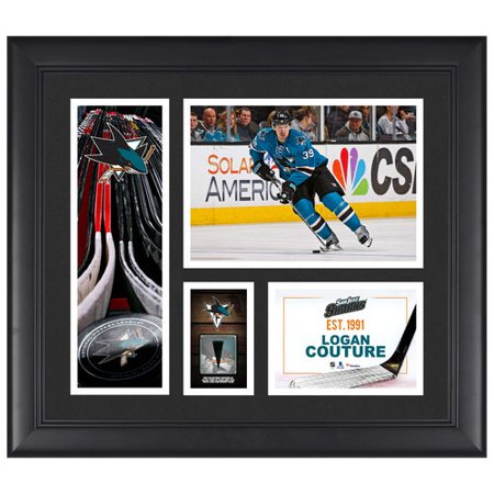 Logan Couture San Jose Sharks Framed 15   X 17   Player Collage With A Piece Of Game Used Puck   No Size
