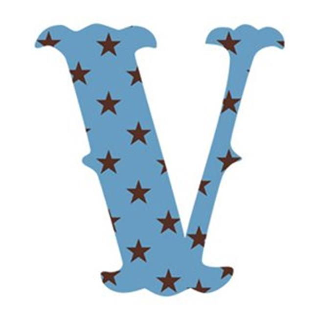 Wallcandy Arts sv Luv Letters Stars V in Blue - Pack of 2