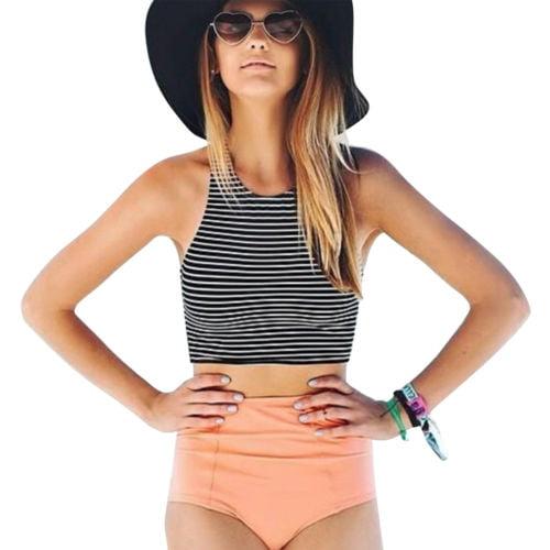 crop top bikini set
