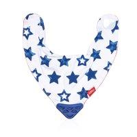 Nuby Bandana Teething Bib Blue Stars, 1 Pack
