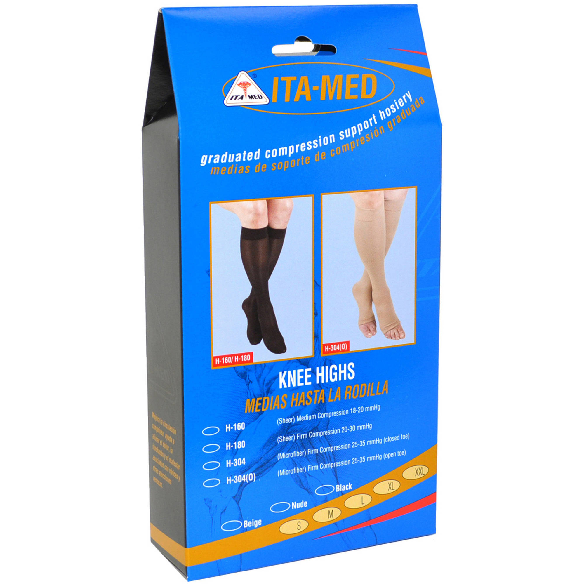 ITA-MED Sheer Knee Highs - Compression (20-22 mmHg): H-160