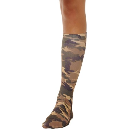 2cb11c03dd8 Celeste - Camo Socks Knee High Trouser Womens Sock Military Army Costume  Accessory Soxs Sizes  One Size - Walmart.com
