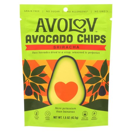 Avocado Chips - Avolov - Avocado Chips - Sriracha - Case Of 12 - 1.5 Oz.