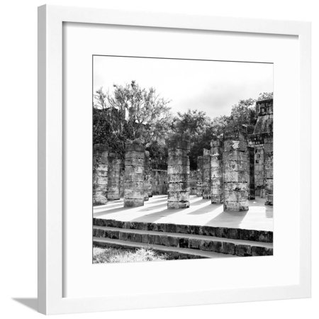 ¡Viva Mexico! Square Collection - One Thousand Mayan Columns in Chichen Itza V Framed Print Wall Art By Philippe Hugonnard Chichen Itza Mexico Framed