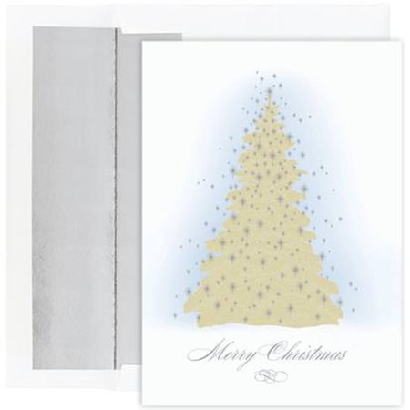Great papers holiday greeting card frosted tree 16 cards16 foil holiday greeting card frosted tree 16 cards16 foil m4hsunfo