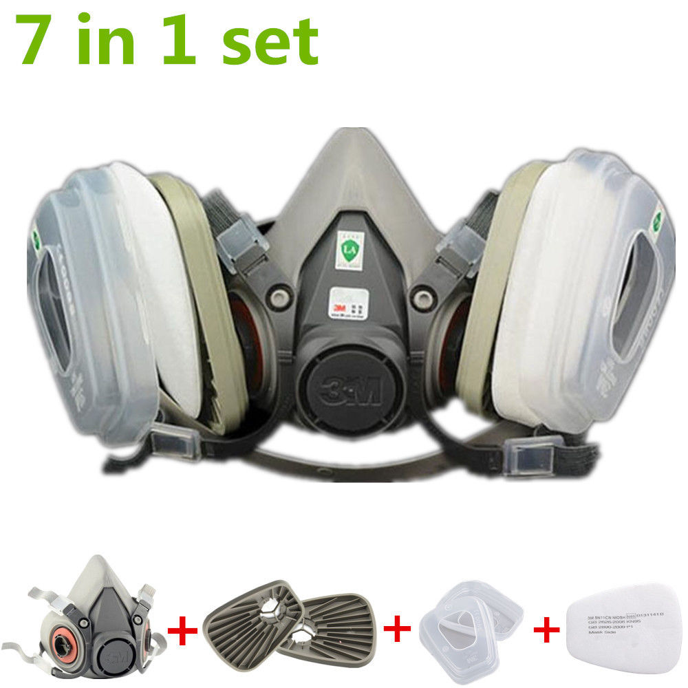 Antsir 7 in 1 Half Face Gas Mask for 3M 6200 Painting Spray Protection Respirator by Antsir