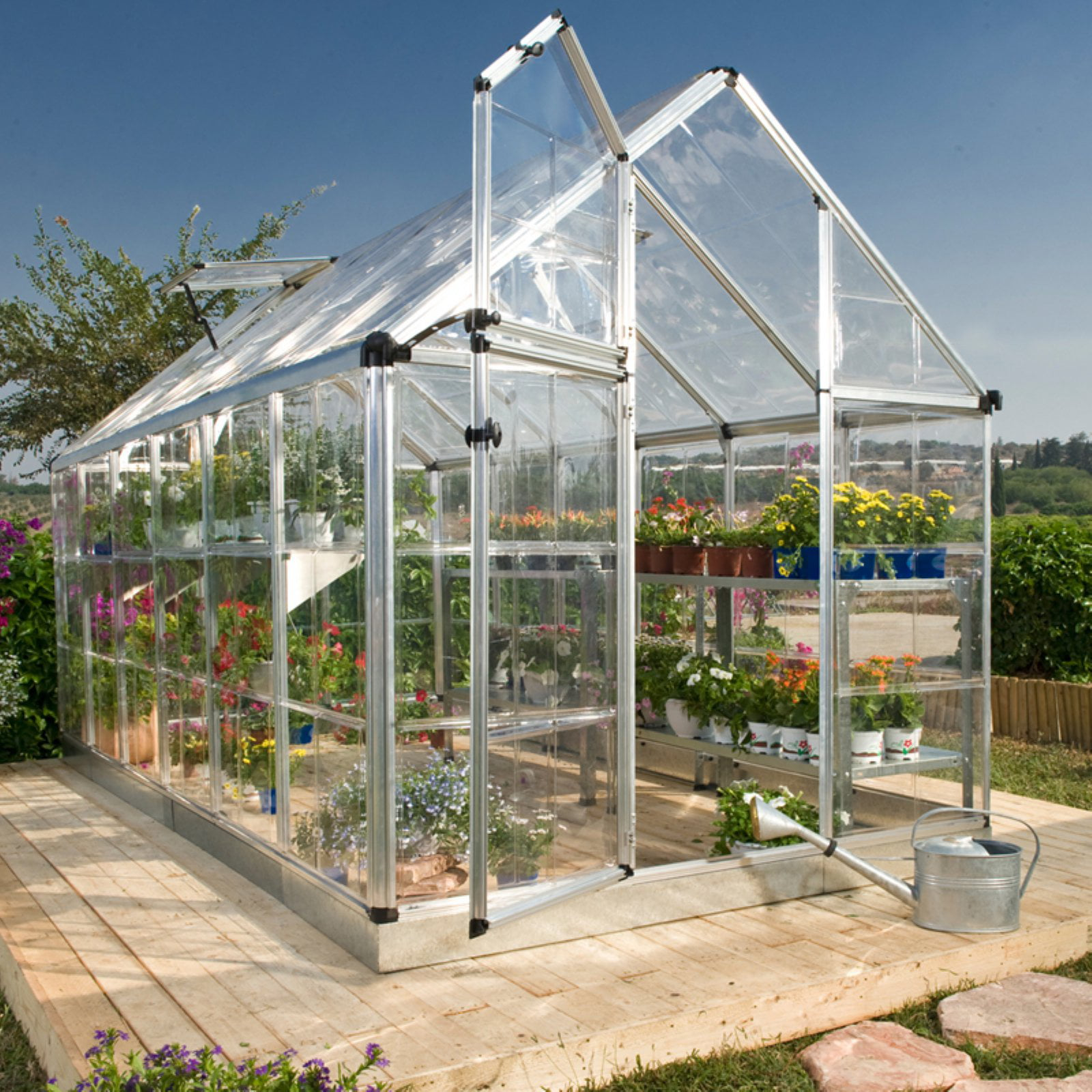 Snap and Grow Greenhouse, 6' x 16', Silver by Palram