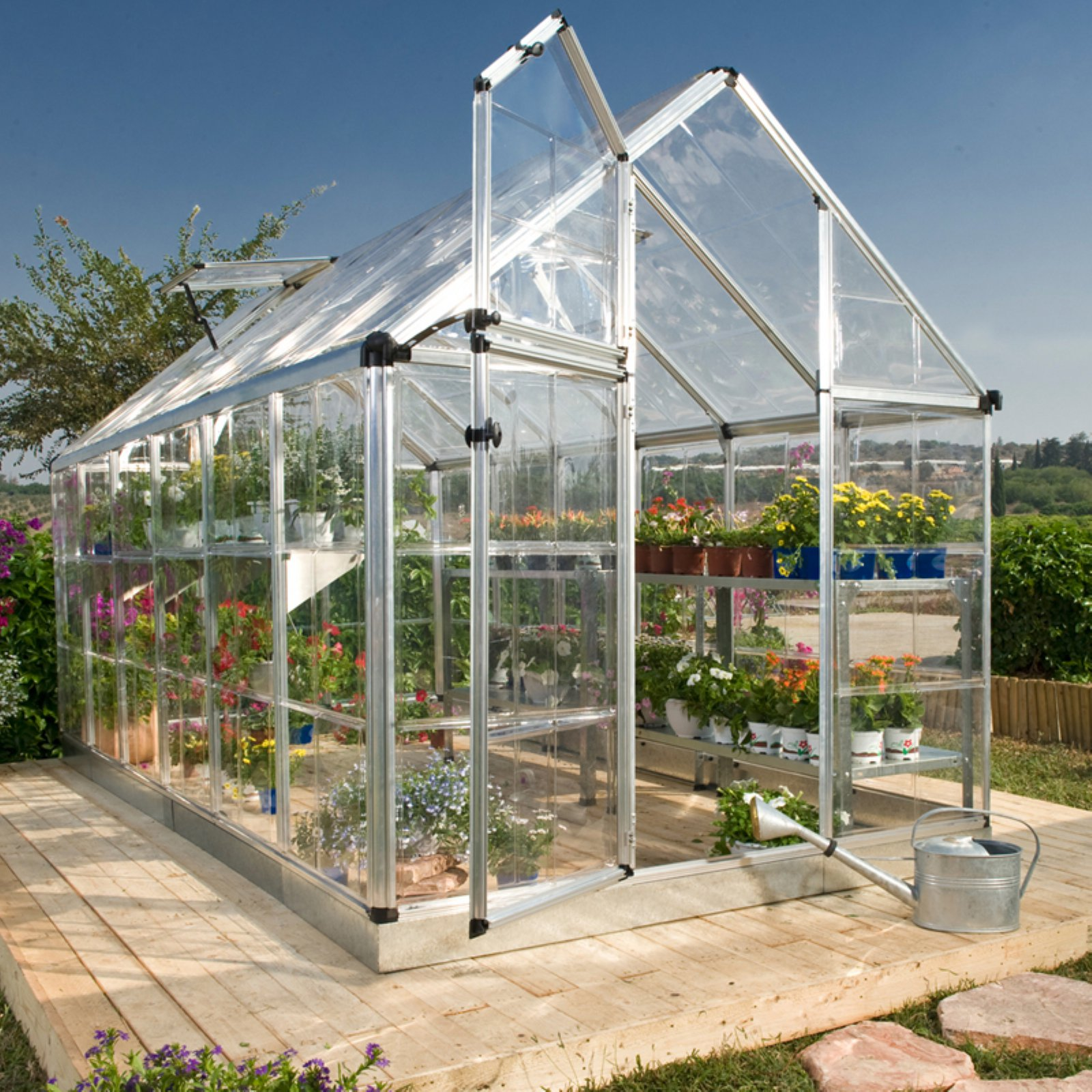 Palram Snap and Grow Greenhouse, 6' x 16', Silver