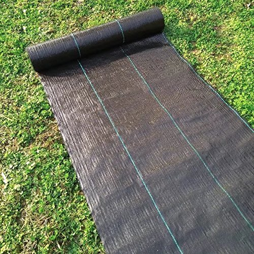 Agfabric 3.2oz Landscape Fabric Durable and Eco-Friendly Weed Barrier, Black, 6' X 16'