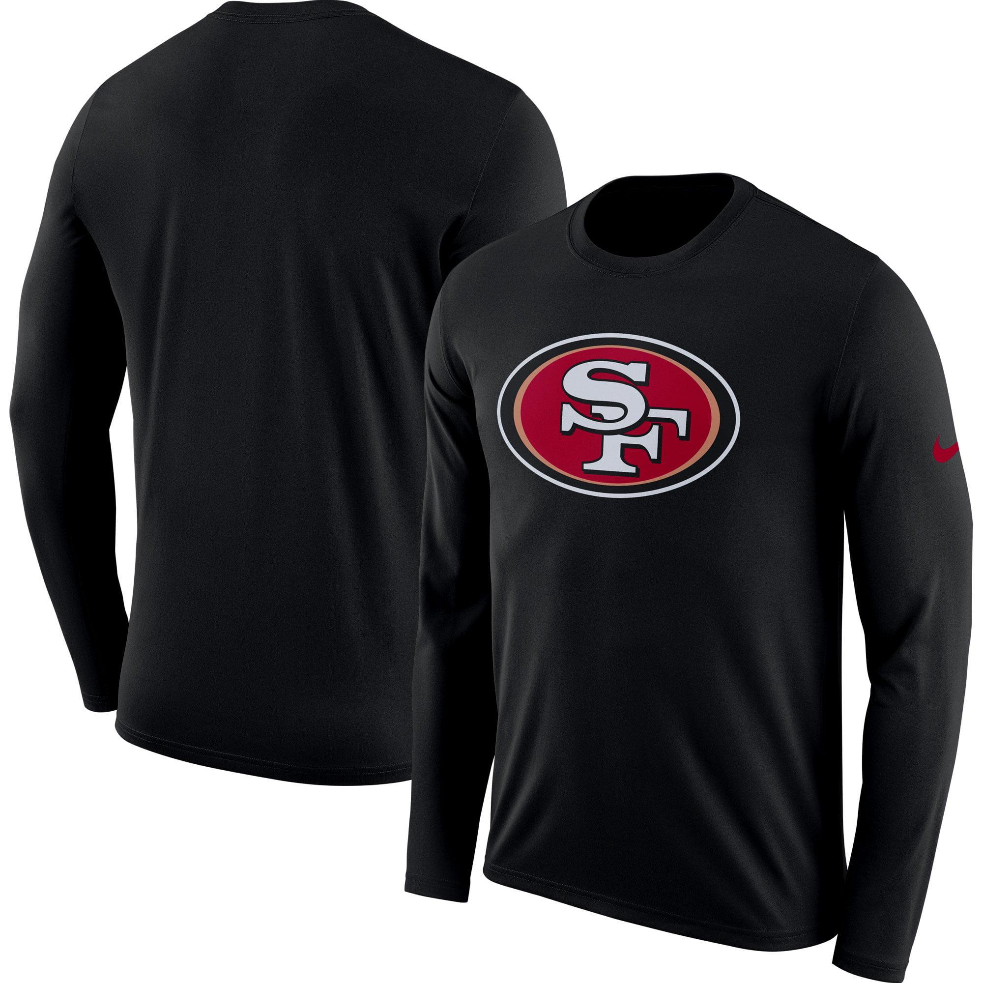 San Francisco 49ers Nike Fan Gear Primary Logo Long Sleeve Performance T-Shirt - Black