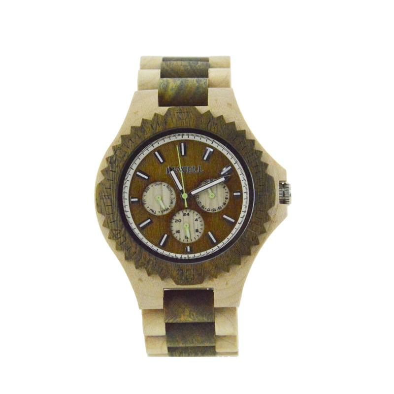 Bewell Unique Wood Watch Made With Dual Wood Types For Men
