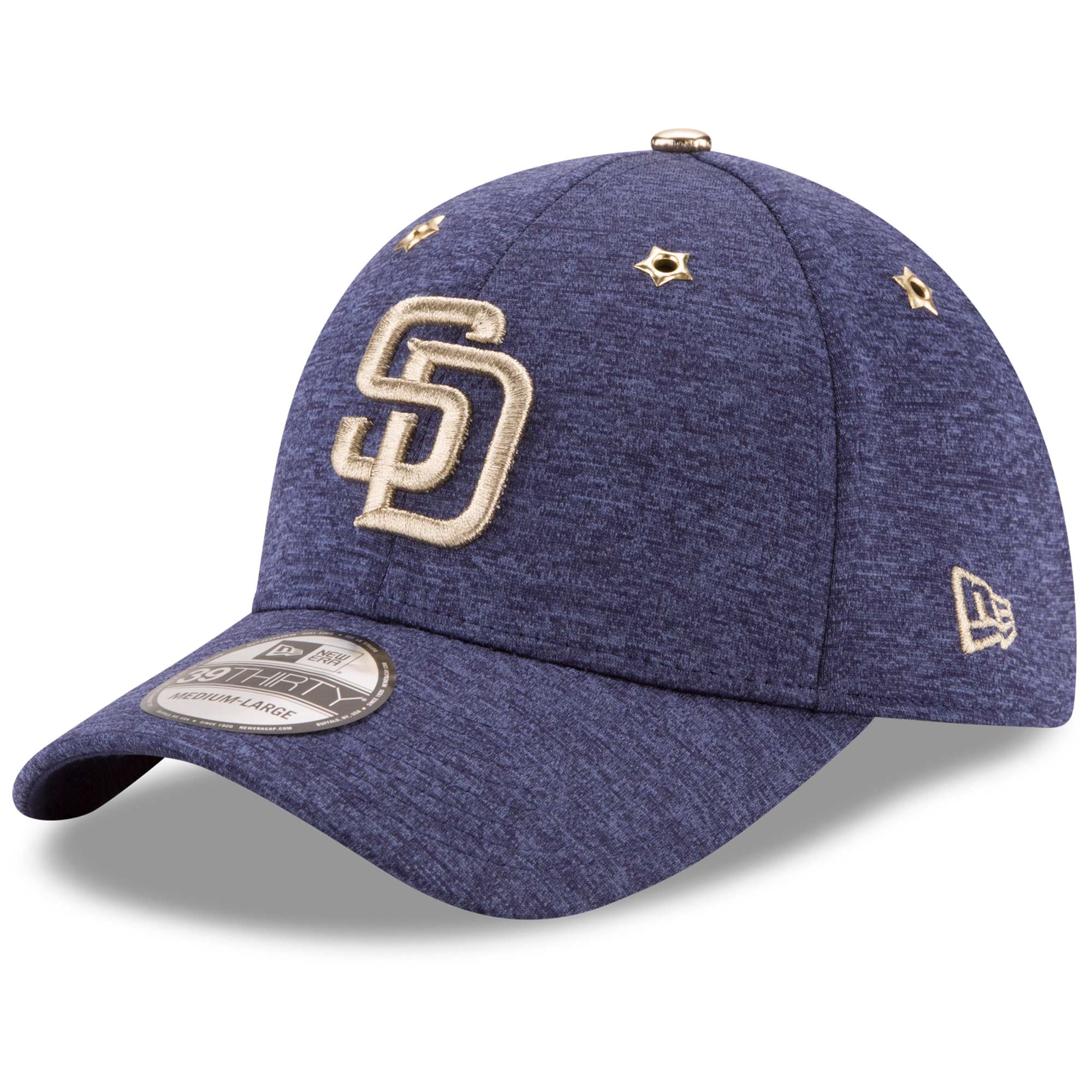 save off 97042 c470a San Diego Padres New Era 2017 MLB All-Star Game Side Patch 39THIRTY Flex Hat  - Heathered Navy - Walmart.com