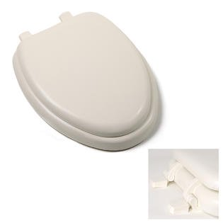 Bone White Soft Elongated Toilet Seat Anti Bacterial