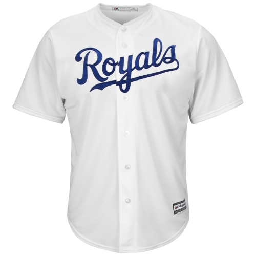 Kansas City Royals Majestic Youth Official Cool Base Jersey - White