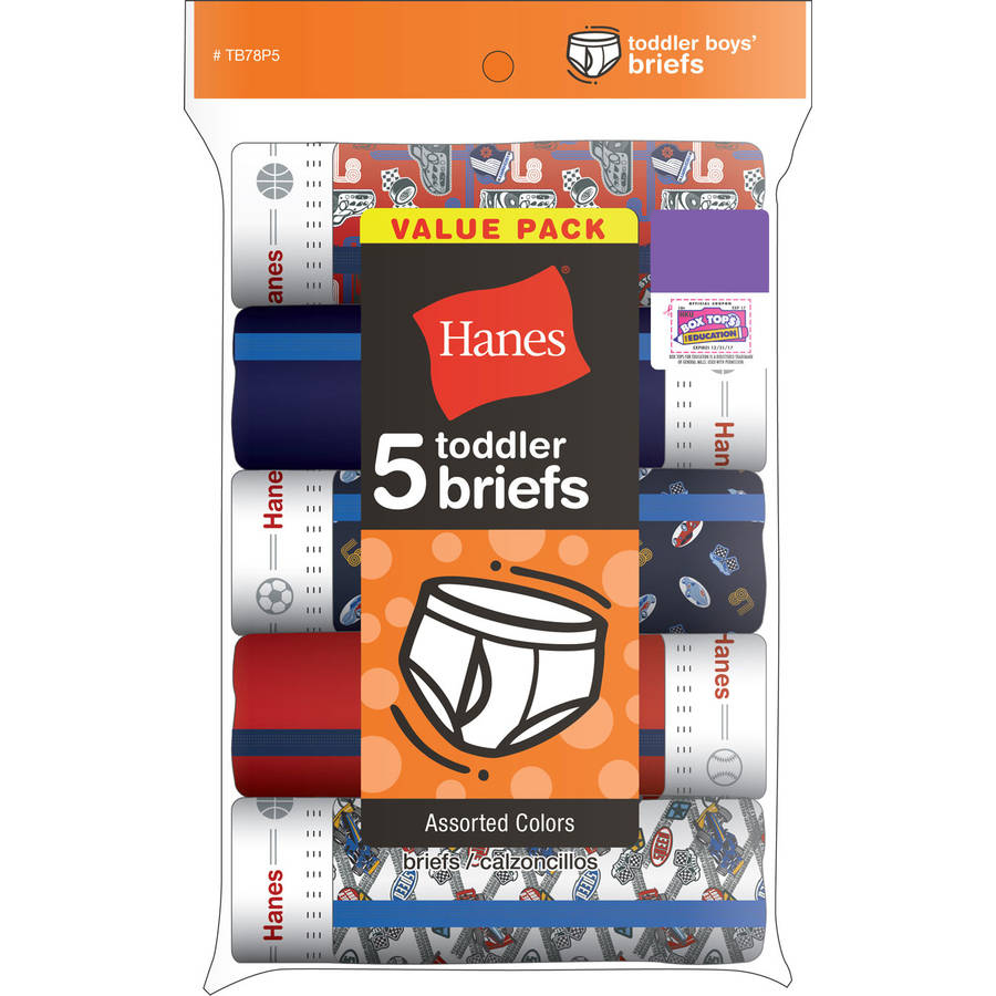 Hanes Toddler Boy Assorted Underwear Briefs, 5-Pack