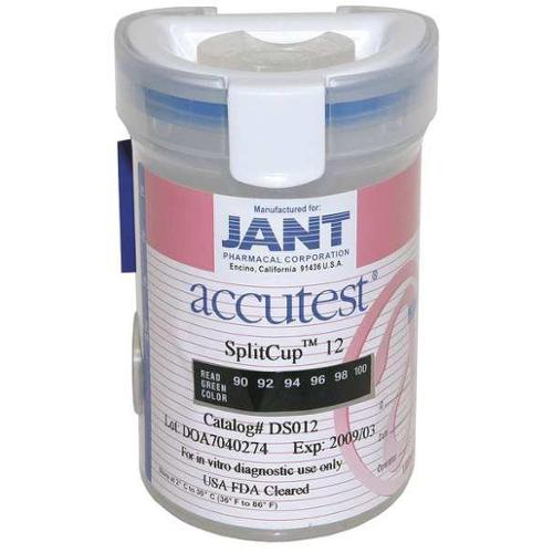 ACCUTEST IP012 Drug Test Cup, SplitCup12, Kitted, PK 25