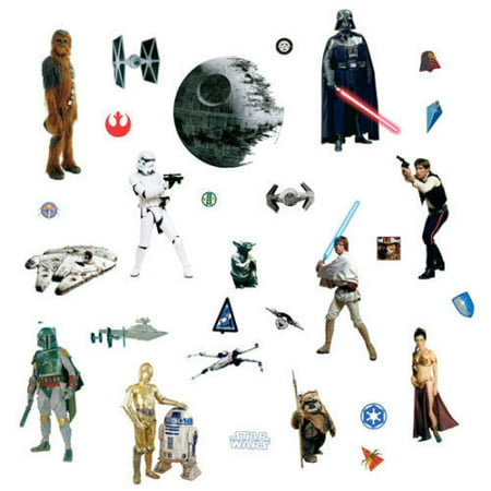 CLASSIC STAR WARS WALL DECALS Movie 31 Stickers Boys Room Decor