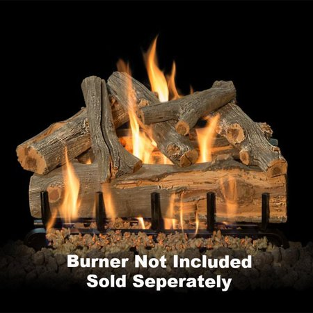 Fireplace Logs  7Pc For See Through Burners 24