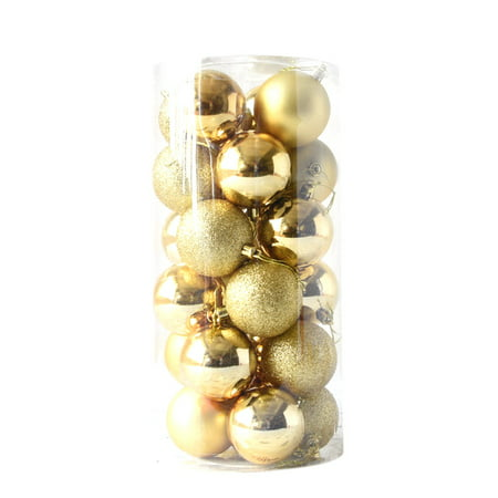 24pcs Shiny and Polshed Glossy Christmas Tree Ball Ornaments Decorations 2.4'' ()