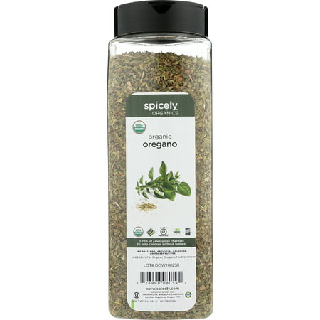 Spicely Organic Spices - Spicely Organics Oregano Club Size Certified Gluten Free