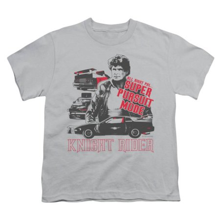 Youth: Knight Rider - Super Pursuit Mode Apparel Kids T-Shirt - Grey
