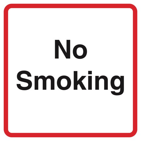 Square No Smoking E Cig Vape Business Office Window Signs Commercial Plastic Square Sign,
