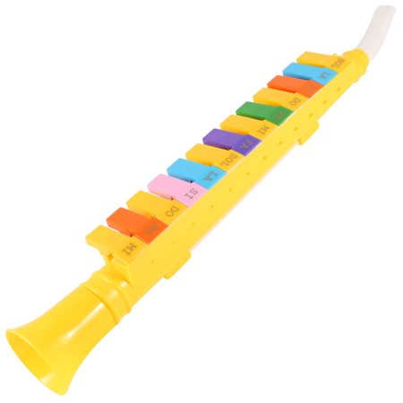 Children Assorted Color Plastic 13 Keys Note Melodica Mouth Organ Yellow