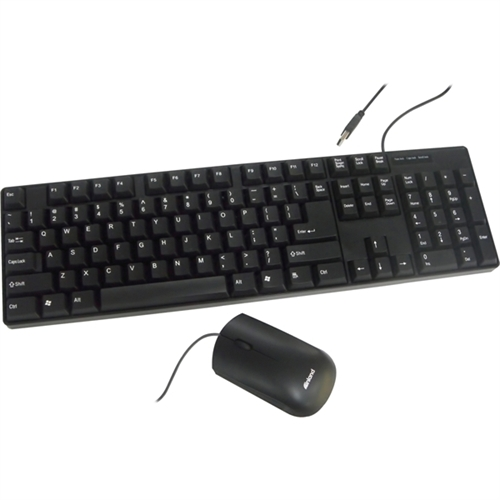 Inland Pro USB Keyboard and Mouse Combo Set, Black