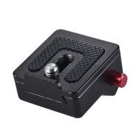 "Mini Aluminum Alloy Quick Release Plate Field Monitor Quick Release Plate with 1/4"" Screw Mount for Camera Camcorder Tripod Ball Head Rig Monitor Magic Arm LED Video Light"