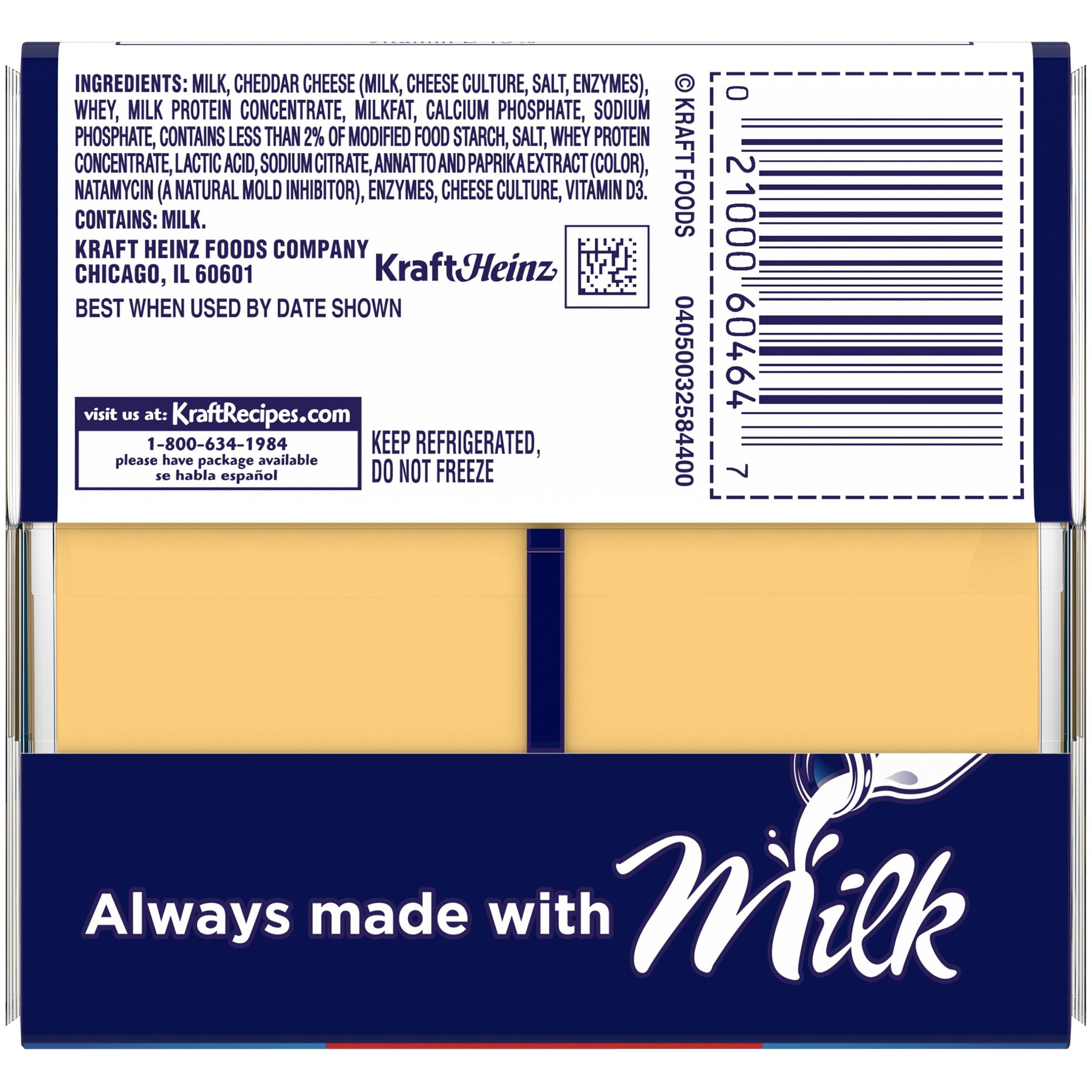 Kraft Singles American Slices, 16 ct - 12 0 oz Wrapper