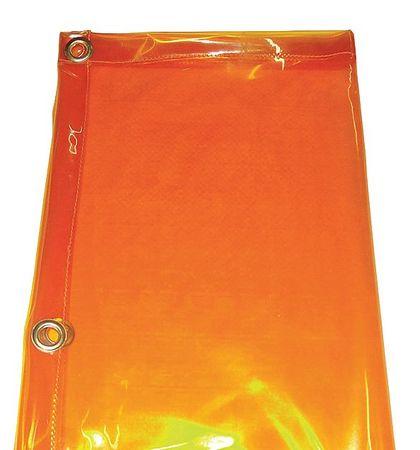 Westward 22RN58 Yellow PVC Welding Curtain