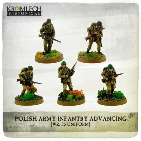 Infantry Squad - Wz. 36 Uniforms Advancing w/Rifles New