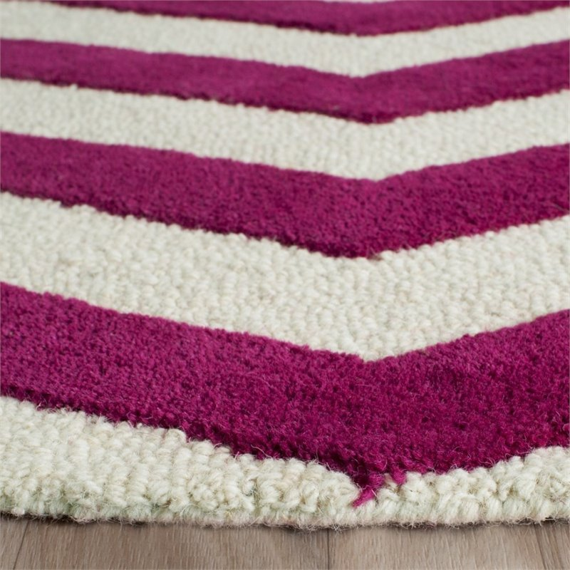 Safavieh Cambridge 8' X 10' Hand Tufted Wool Rug in Ivory and Fuchsia - image 1 of 10