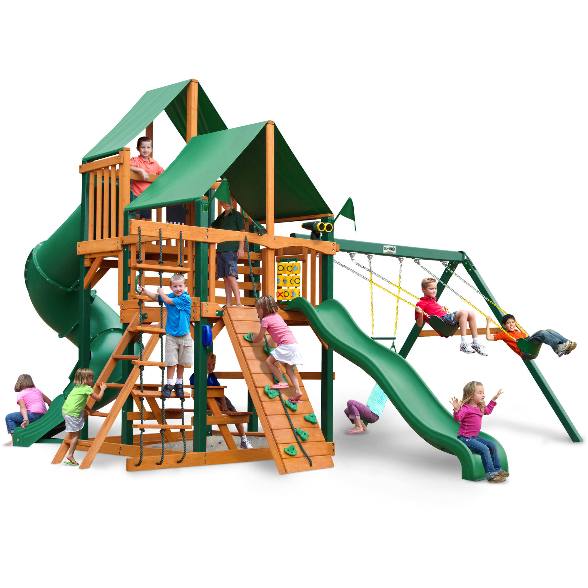 Gorilla Playsets Great Skye I Deluxe Cedar Wooden Swing Set