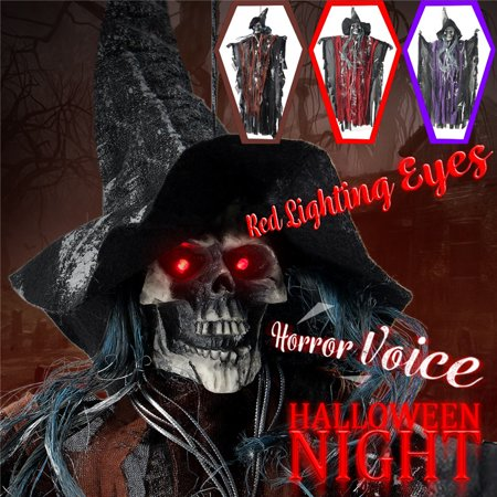 Halloween Party Decor Supplies Hanging Ghost Witch Scary Voice Red Eyes Bar  Home | Walmart Canada