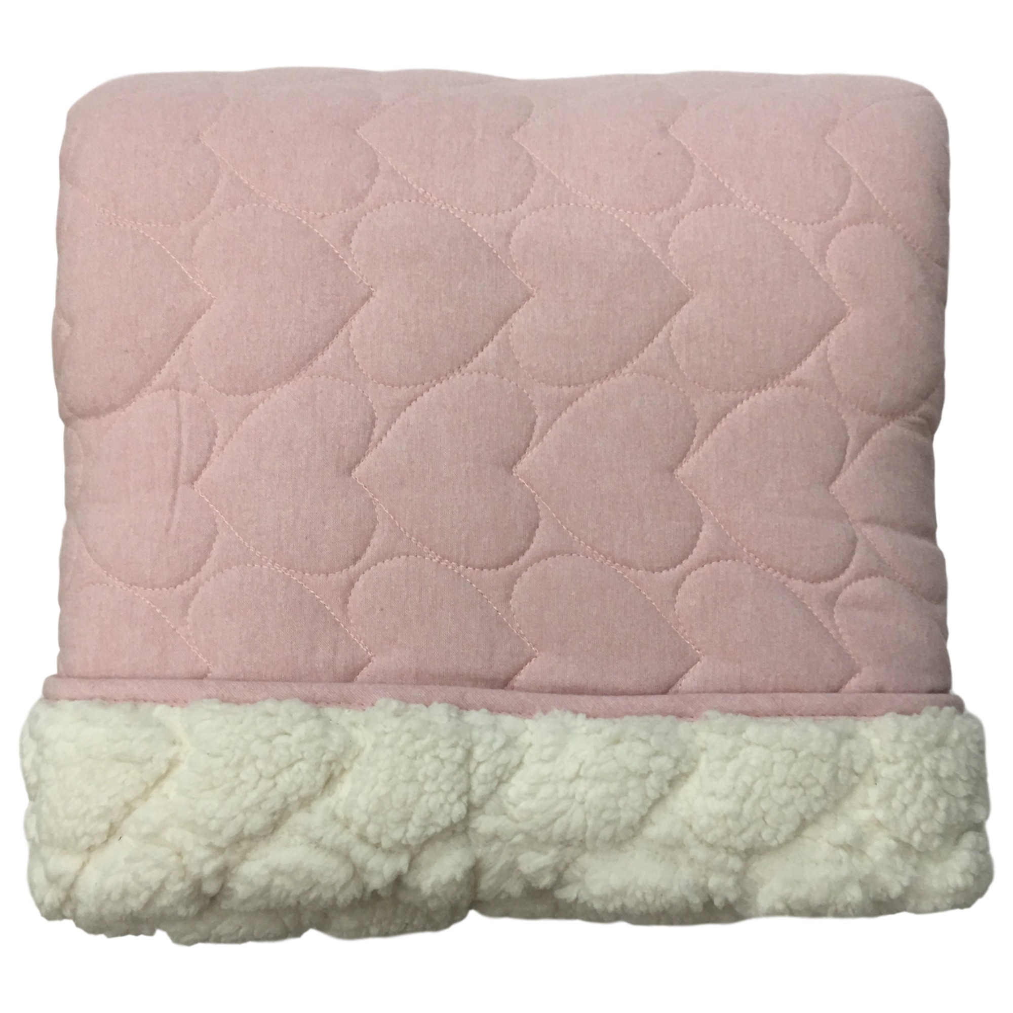 Ugg Millie Pink Hearts Twin Quilt Sham Bed Set With Sherpa Reverse 2 Piece Walmart Com Walmart Com