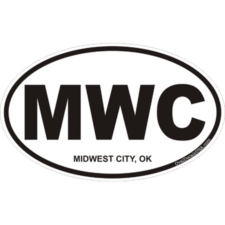 3.8 Inch Midwest City Oklahoma Oval Decal