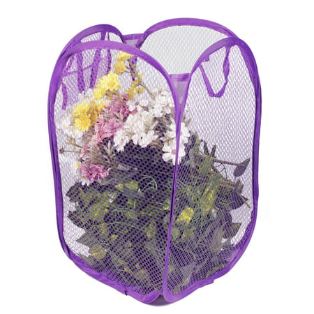 CBD Foldable Washing Clothes Laundry Basket Hampers Storage Bag Pop Up Bin Purple 1 PCS ()