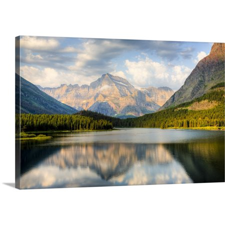 Great BIG Canvas | Jamie and Judy Wild Premium Thick-Wrap Canvas entitled Swiftcurrent Lake, Many Glacier, Glacier National Park, (Best National Parks In Montana)