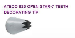 Open Star-7 Teeth Cake / Cupcake Decorating Icing Tip #825